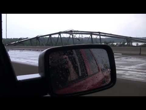 May 20th Tornado Damage to Bridge North of Newcastle Gaming Center I-44