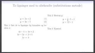 ligning med 2 ubekendte