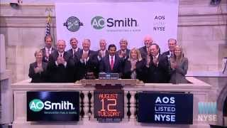 A. O. Smith Celebrates 140th Anniversary of Founding with NYSE Closing Bell