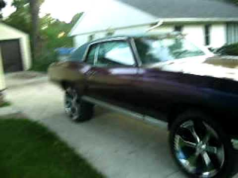 72 monte carlo 23 davins black onyx floaters kamelion paint donk Video