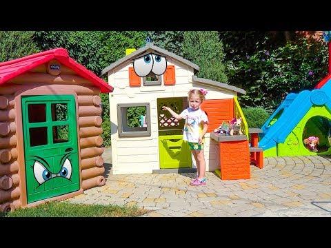 Игрушки патруль щенячий и Настя строят домик для друзей Видео для детей Playhouse for children