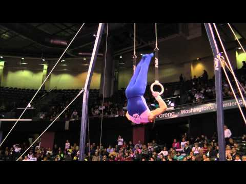 Chris Brooks - Still Rings Finals - 2012 Kellogg&#039;s Pacific Rim Championships - 1st