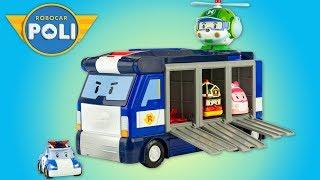 Robocar Poli Mobile Headquarters Transforming Truck Transporter Toy Review Juguetes