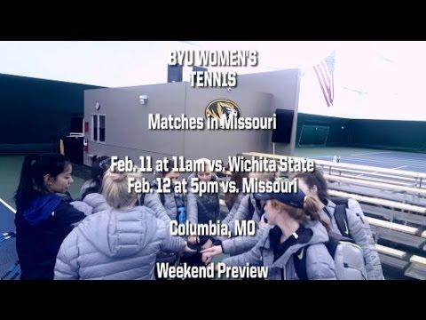 BYU Women's Tennis, season 2016 weekend in Missouri preview