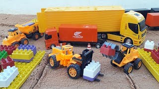 joking about loading trucks and showing truck bau