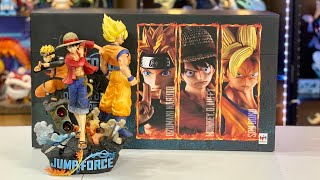 Unboxing Jump Force Collector's Edition (Luffy - Naruto - Songoku Diorama) & Game Play