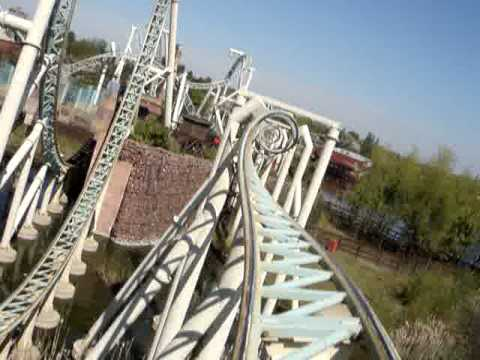 World's first 10-inversion Roller Coaster COLOSSUS (POV Front Row)