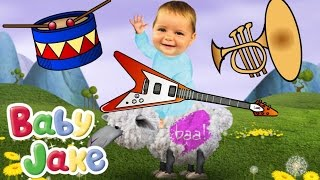 Baby Jake & Musical Instruments for Kids - COMPILATION - Yacki Yacki Yoggi  Song