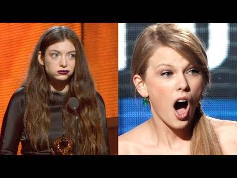 Taylor Swift Vs. Lorde: Better Surprised Face?! (GRAMMYS 2014)