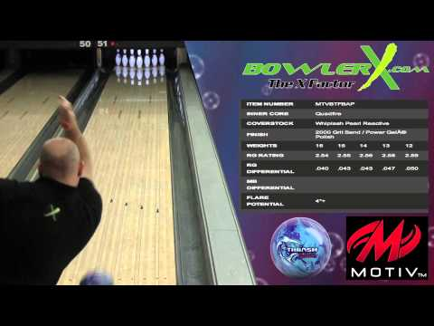 Motiv Thrash Frenzy - Bowling Ball Reaction Video - BowlerX.com