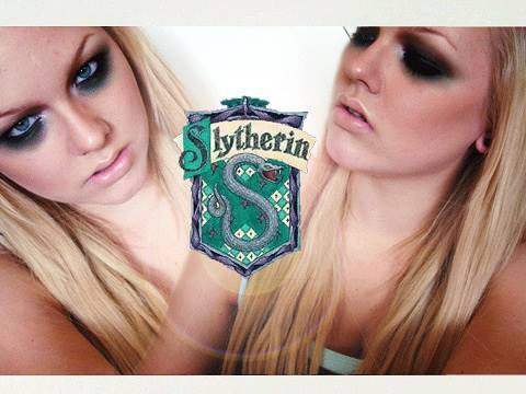 Slytherin - Harry Potter Houses / Inspired Makeup Tutorial with VintageorTacky