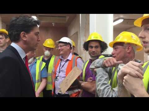 Ed Miliband campaigns ahead of EU referendum