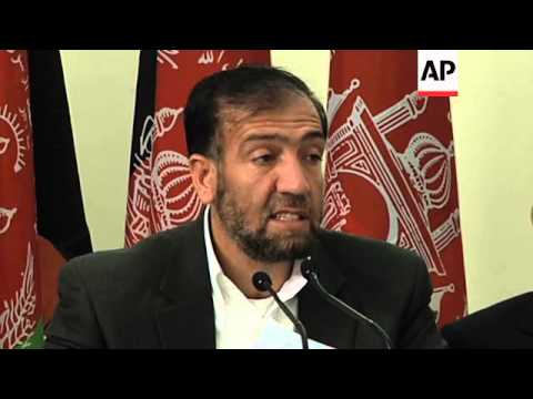 Afghan election officials announce date of  Presidential election