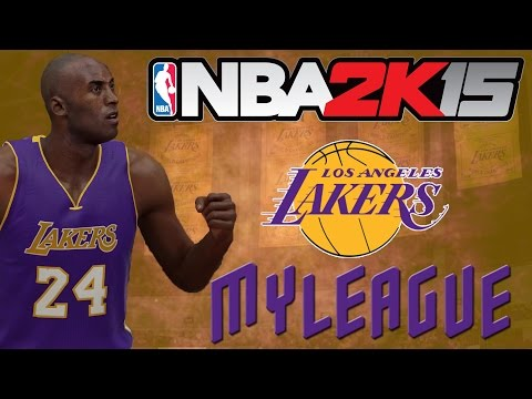 NBA 2K15 MyLeague Ep.3 - Los Angeles Lakers -  Huge Trade to Help Kobe Bryant! He's back!