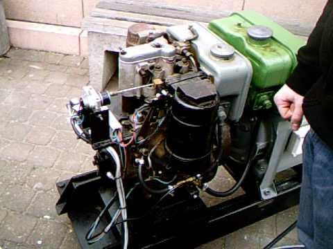 Hatz Diesel Generator Working