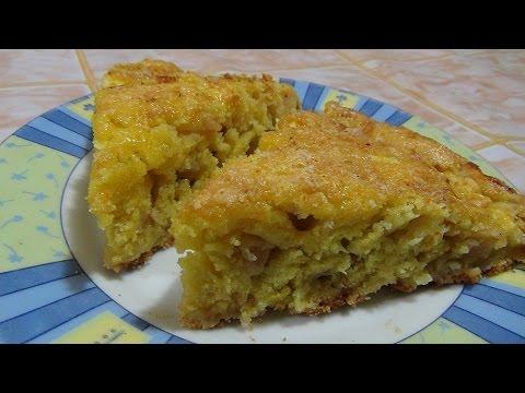 Яблочный пирог на скорую руку. Apple pie in a hurry.