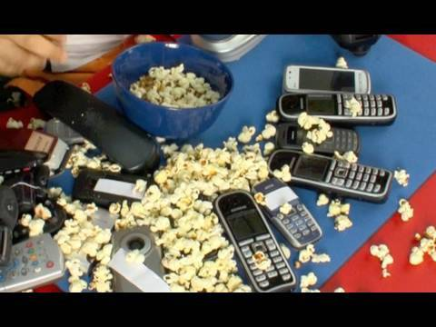 How to create Popcorn maker using cell phone  ,cellulari Rode Stereo Video mic