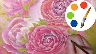 The Pink roses, speed painting process, irishkalia