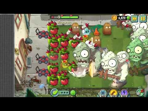 Huge Wave!!! Plants Vs Zombies 2 - Big Brainz Vs Apple Mortal On Pinata Party