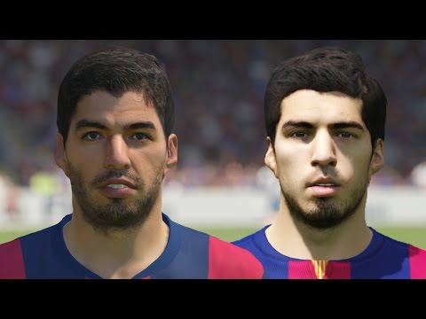 FIFA 15 vs PES 15 Head to Head Faces - Barcelona