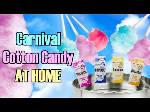 COTTON CANDY PRO , USING AN INDUSTRIAL MACHINE