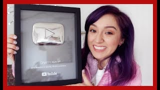 Unboxing 100k Play Button Award | Crafty Amy