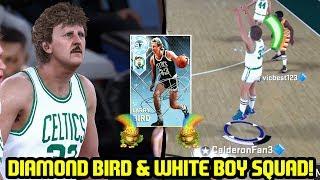 DIAMOND LARRY BIRD CARRIES WHITE BOY SQUAD! NBA 2K18 MYTEAM SUPERMAX GAMEPLAY