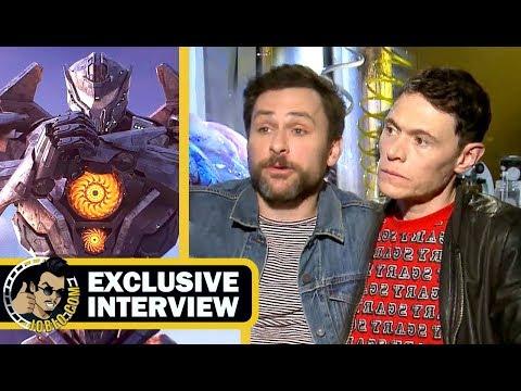 PACIFIC RIM 2: UPRISING Charlie Day, Burn Gorman & Director Steven S. DeKnight Interview (2018)