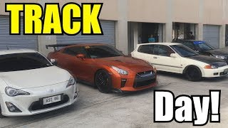 TRACK DAY w/ FRIENDS l Honda Civic SIR x Subaru Sti x Civic Type R x Toyota 86 x Nissan Gtr