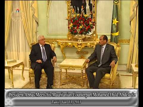 President Abbas Meets his Mauritanian Counterpart Mohamed Ould Abdelaziz