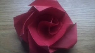 Origami Tutorial: Origami Omuta Twisty Rose