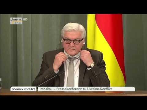 Ukraine-Konflikt: Frank-Walter Steinmeier und Sergej Lawrow zu Gesprächen in Moskau am 18.11.2014