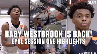 5-Star Jalen Lecque is the MOST ATHLETIC Player in High School! EYBL Session One Highlights!
