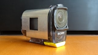 DIY flat lens for SONY action camera