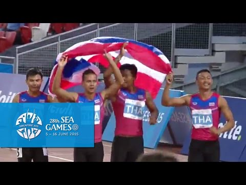 Athletics Men's 4x100m Relay  Final (Day 7) | 28th SEA Games Singapore 2015
