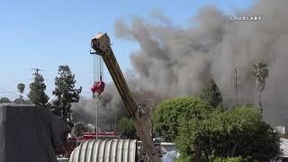 Fire Bruns Through Auto Parts Yard / Wilmington  4.21.19