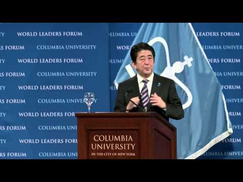 World Leaders Forum: Shinzo Abe, Prime Minister of Japan