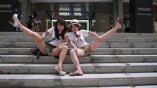 Ninja Girls : Orchard Road  One Minute Singapore