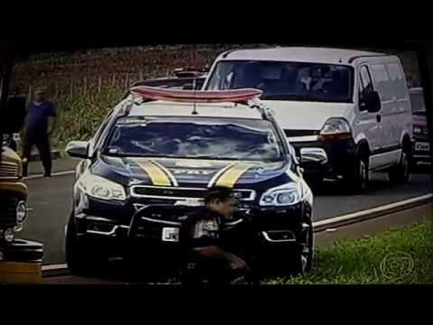 Assalto Cinematografico a Comboio de Carros Fortes em Goiás!