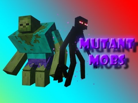 Minecraft Mod Showcase: MUTANT ZOMBIE and ENDERMAN