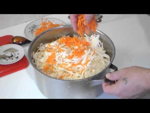 Как быстро посолить капусту - видео