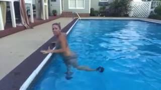 Pool workout (awesome arms, abs and legs on the side of the pool)