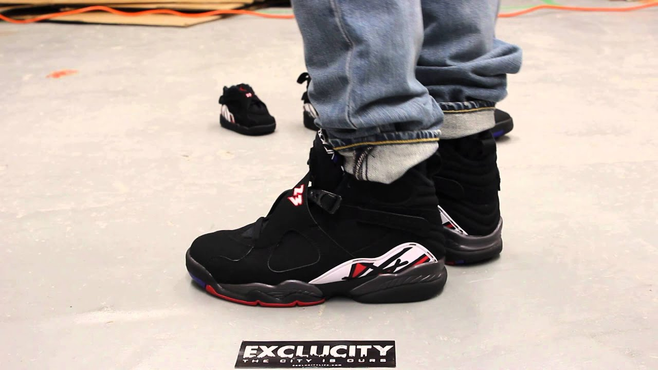 Playoff 8s 2013 On Feet Air Jordan Retro 8   Playoff