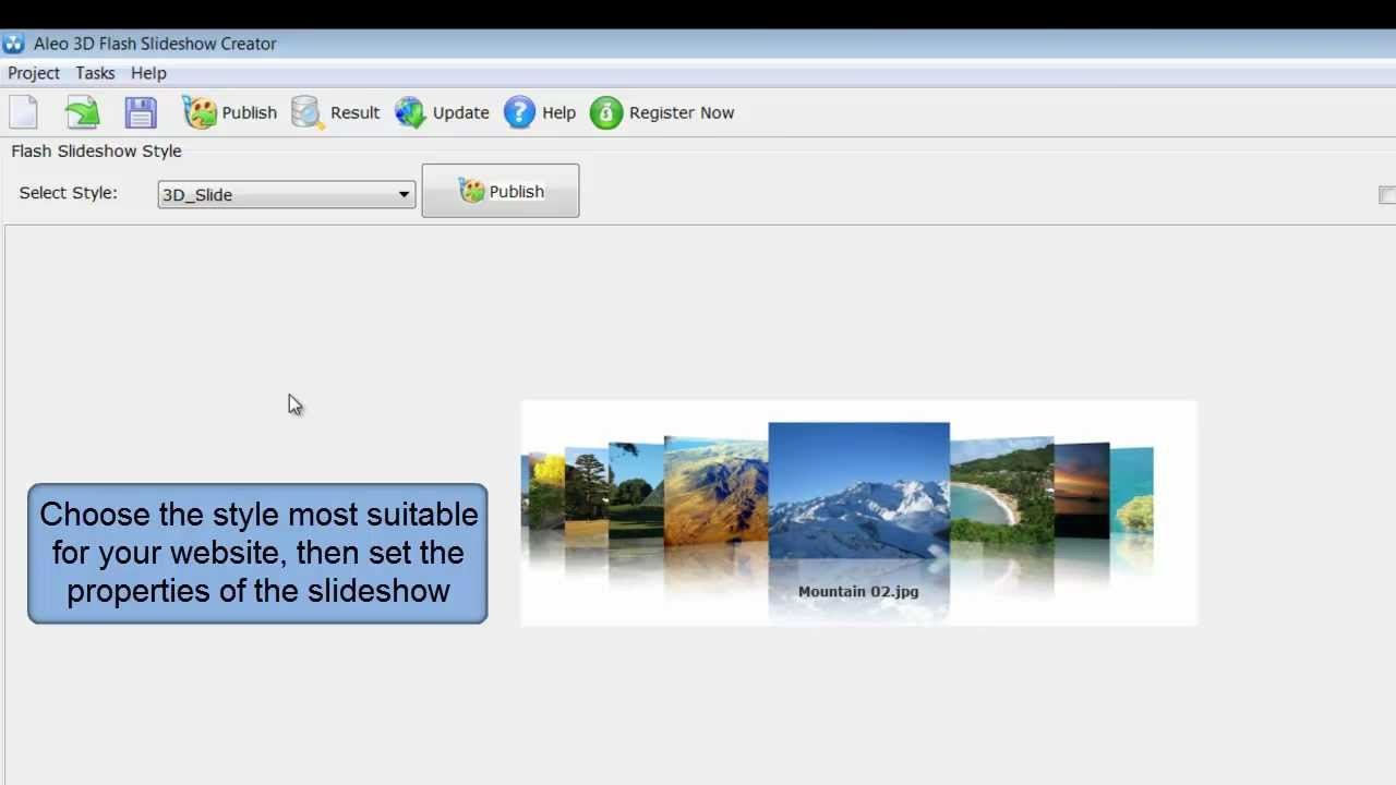 How To Make A 3d Flash Slideshow For Your Website Youtube