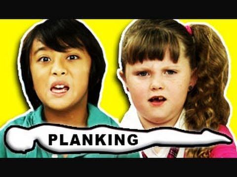 KIDS REACT TO PLANKING