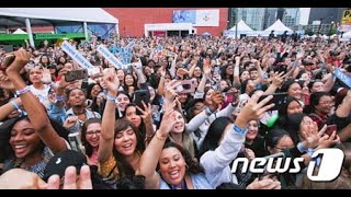 CJによるK-POPコンサート、米ニューヨークで5万3千人を集客 (6/25)