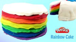 Play Doh Cake | Play Doh Rainbow Cake With Playdough | PlayDoh Food