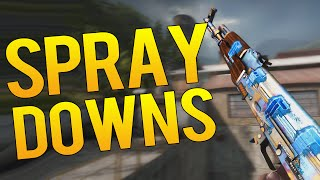 CS:GO - TOP 10 BEST FASTEST PRO SPRAY DOWNS