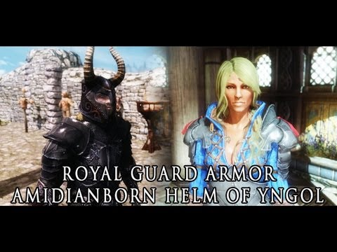 TES V - Skyrim: Royal Guard Armor. aMidianBorn Helm of Yngol