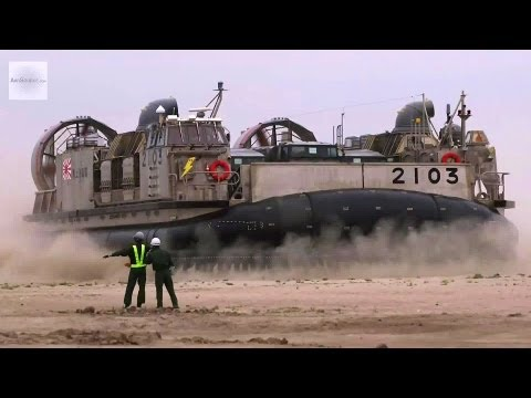 Japan Self-Defense Forces Hovercraft LCAC (Landing Craft Air Cushion) in Action | AiirSource